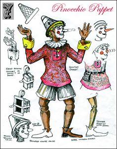 Pinocchio puppet, via Flickr.