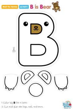 Letter B bear craft
