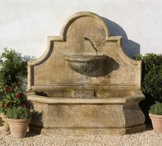 wall fountains | Andalusia Wall Fountain - Cast Stone Wall Fountain with Light