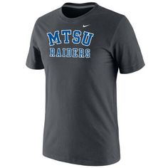 This comfortable MTSU Raiders T-shirt is perfect working out or walking around campus. #MTSU #textbookbrokers #blueraiders #trueblue