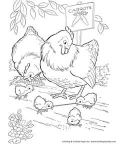 Coloring Pages Chicken from Animal Coloring Pages category. Printable coloring pictures for kids that you could print and color. Have a look at our series and printing the coloring pictures free of charge. Chicken Coloring Pages, Farm Animal Coloring Pages, Coloring Pages For Girls, Coloring Pages To Print, Coloring Book Pages, Printable Coloring Pages, Free Coloring Sheets, Mandala Coloring Pages, Farm Animals