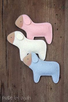 Felt pastel sheep