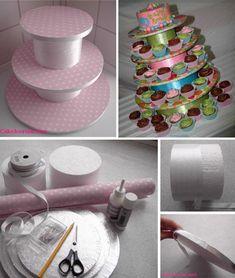 Otra idea para hacer Torres de Cupcakes