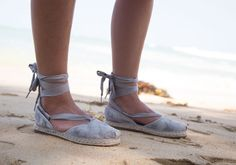 Dove Grey Washed Suede Women's Bella Espadrille | TOMS