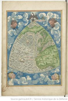 Map of the Atlantic Ocean, Guillaume Le Testu, 1555