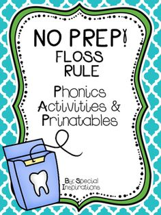 Contents: Floss Rule Poster (Color)Cut & Paste Worksheets (b&w)Floss Spelling Worksheets (b&w)Floss Matching Worksheets (b&w)Floss Picture Word Match Literacy Center (color) Print and Go! ~~~~~~~~~~~~~~~~~~~~~~~~~~~~~~~~~~~~~~~~~~~~~~~~~~~~~Your feedback is greatly appreciated!