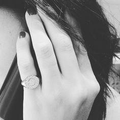 Anello mignolo argento e zirconi