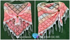 Part 5 - Spring and Summer Triangle Shawl (CAL) final part - free crochet pattern on Crochet for you