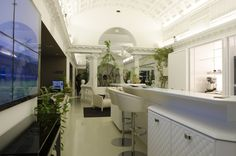 Realizzazioni in gesso per Scic Partner Braglia Contract Division Showroom Via Durini - Milano