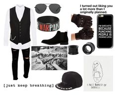"""""""[ just keep breathing ]"""" by nikkyvanderoer ❤ liked on Polyvore featuring Cheap Monday, Topman, Tom Ford, ALDO, Dsquared2, Michael Kors, Givenchy, Casetify, Warpaint and men's fashion"""