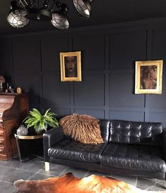 Eclectic, Dark & Glamorous Home Tour - Sally Worts   The word 'black' often conjures up negative images of darkness, mourning, as well as authority and status. So it is no wonder that when contemplating a design scheme, black or darker colours such as Railings isn't going to be an obvious choice, #eclecticdecor #darkinteriors #darkdecor #interiors #interiorinspo #homedecor #livingroom #decor #wallstyling #interiordesign #eclecticinteriors #eclecticstyle