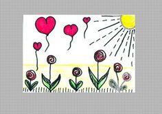 Postkarte LOLIPOP FLOWERS