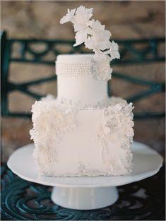 Elegant White Wedding Cake by Maggie Austin Cakes
