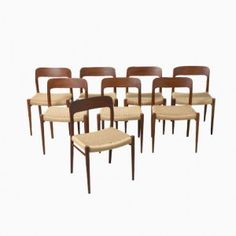 Shop Vintage Midcentury Scandinavian And Industrial Dining Chairs Sets At Pamono