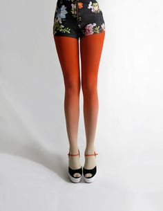 Ombré tights in Sunset by BZRBZR on Etsy, $30.00