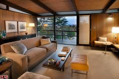 midcentury modern ceiling beams | Mid Century Modern Architecture with Bling Intact - Best LA ...