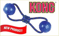 If you are looking for an interactive toy for you and your pup to enjoy, look no further than the KONG Squeeze Double Ball with Rope! It's designed for tossing, tugging, and retrieving. The specially made recessed squeaker induces play, while keeping it safely protected from harm. This deal comes with your choice of medium or large Squeezz Double Ball. This toy comes in purple, red, blue, and green. Colors will vary. From $12