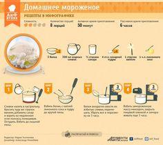 Сливочно-ванильное мороженое | Рецепты в инфографике | Кухня | Аргументы и Факты: