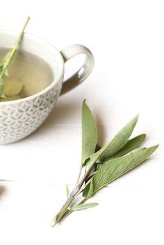 Verse salie-gember thee, home made herb tea, sage and ginger tea, Kruiden thee maken, Gezonde thee, Thee ziek zijn, Kruiden en hoesten, Sick girl, Healthy drinks, Healthy tea, Gezonde thee
