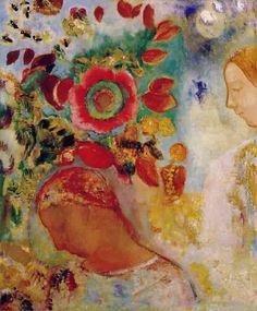 ⊰ Posing with Posies ⊱ paintings of women and flowers - Odilon Redon (1840-1916)