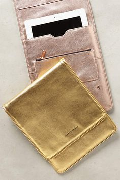 Metallic Idiom iPad Case - anthropologie.com