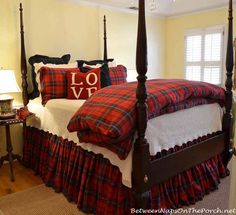 Tartan Plaid Bedding For Winter, William Sonoma Home, tartan bedding is back again this year!