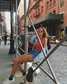 Quick lil trip to Nyc Style Outfits, Cute Outfits, Summer Outfits, 90s Fashion, Denim Fashion, Fashion News, Fashion Outfits, Looks Style, Style Me