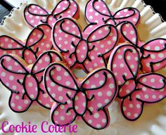 Bowtique Polka Dot Bows Decorated Cookie Favors by CookieCoterie, $26.00 Minnie's Bowtique Birthday