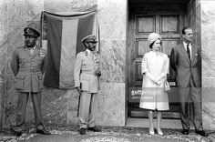 Queen Elizabeth II, Prince Philip and Emperor Haile Selassie in Ethiopia in 1965