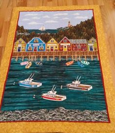 Memories of Maine landscape quilt made for my husband.