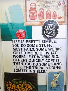 Do something well. Love it. Then do something else. #trysomethingelse