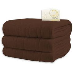 Comfort Knit Heated Blanket Queen Size Chocolate Dual Controls 10 Heat Settings  #BiddefordBlankets #Contemporary