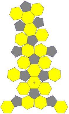 Patron de l'icosaèdre tronqué (ballon de football)