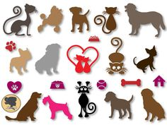 Pets silhouette - Cat Design Silhouette - Dog Svg - Instant Digital Download You will receive the following SVG Files DXF Files PNG Files JPG Files EPS Files This is a digital download and no physical product will be sent. This is an instant etsy download... once you pay etsy delivers