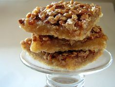 Pecan Bars  Crust: 1 1/2 cups all-purpose flour 1/4 cup brown sugar 1/4 teaspoon salt 1/2 cup butter  Filling: 2 eggs 3/4 cups light corn syrup 3/4 cups white sugar 2 tablespoons butter, melted 3/4 teaspoons vanilla extract 1 1/4 cups chopped pecans