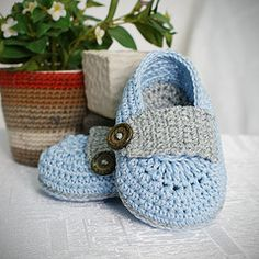 Ravelry: marcus baby booties crochet pattern pattern by Lis Sun
