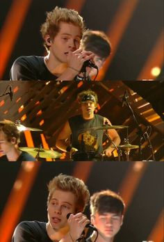 when the performance was over, luke just looked around and it was like he realized that this was real. he saw that they made it