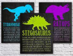Printable Dinosaur Wall Art - Dinosaur Classroom Decor - Chalkboard Wall Art…