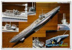 Das Boot U96 WWII German Uboat Papercraft