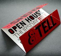 gate fold, direct mail invitation