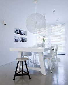 Shop residential & commercial products for interior design projects, no matter the scope. Dining Room Inspiration, Interior Inspiration, Interior Architecture, Interior And Exterior, White Rooms, Dining Room Design, Interiores Design, Kitchen Interior, Interior Styling