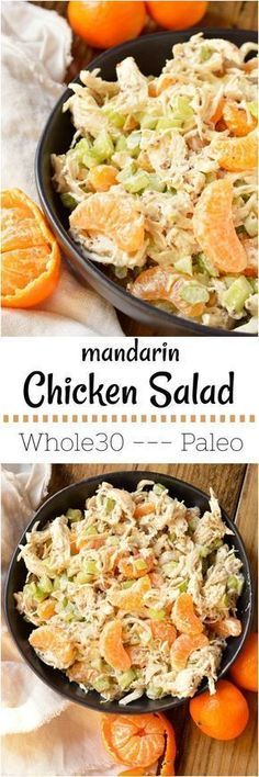 Take a break from boring old chicken salad and make this Mandarin Orange Chicken Salad Recipe. The tangy dijon mustard and sweet mandarin oranges take this chicken salad to the next level! With just 5 ingredients this makes a great nutritious lunch or dinner and can be made into a Whole30 compliant recipe. #whole30recipes #paleorecipes #chickensaladrecipe #orangechicken