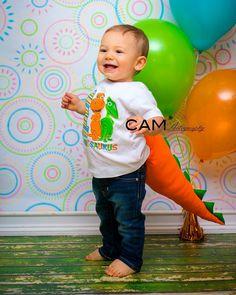 Smash cake | first birthday theme | photo shoot | mini session | photography | nj | pa | ny | contact me to book | photographer | dinosaur train | boy | blue | orange | green | balloons | CAM Photography Facebook.com/CAMphoto22 email : camphoto22@photographer.net