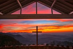 """Gorgeous! Symmes Chapel is a popular wedding site and worship site, also called """"Pretty Place"""" for the magnificent view it commands from its lofty perch on Standingstone. Blue Ridge Mountains, Cleveland, South Carolina, Greenville County."""