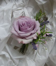 Becky's Country Style Wedding Flowers in Purples and Lilacs Rose Corsage, Corsage And Boutonniere, Corsage Wedding, Boutonnieres, Wedding Bouquets, Corsages, White Corsage, Buttonhole Flowers, Groom Buttonholes