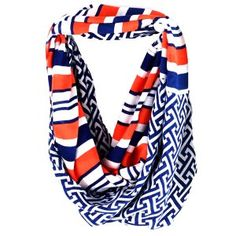 This infinity scarf would be great for tailgating or to wear on game days.