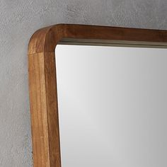 "acacia wood 33""x73"" floor mirror 