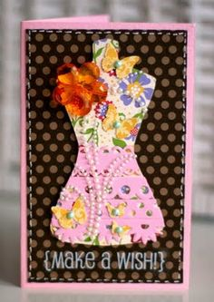 SRM Stickers: Altered Chipboard Dress Tutorial by Tanya