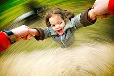 Well, I used to be able to do that. Now, I'm the one twirling a random little girl!