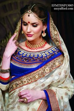 Exotic Off White Orange Blue Party Wear Saree For Buy Call or Whatsapp 08968017642, 07837409851 http://easyafford.com/sarees/1043-exotic-of-white-orange.html